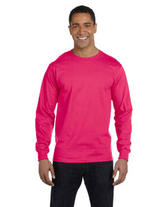 Cyber Pink 6 oz., 100% Cotton Lofteez HD® Long-Sleeve T-Shirt