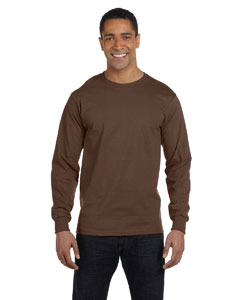 Chocolate 6 oz., 100% Cotton Lofteez HD® Long-Sleeve T-Shirt