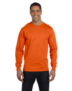 Burnt Orange 6 oz., 100% Cotton Lofteez HD® Long-Sleeve T-Shirt