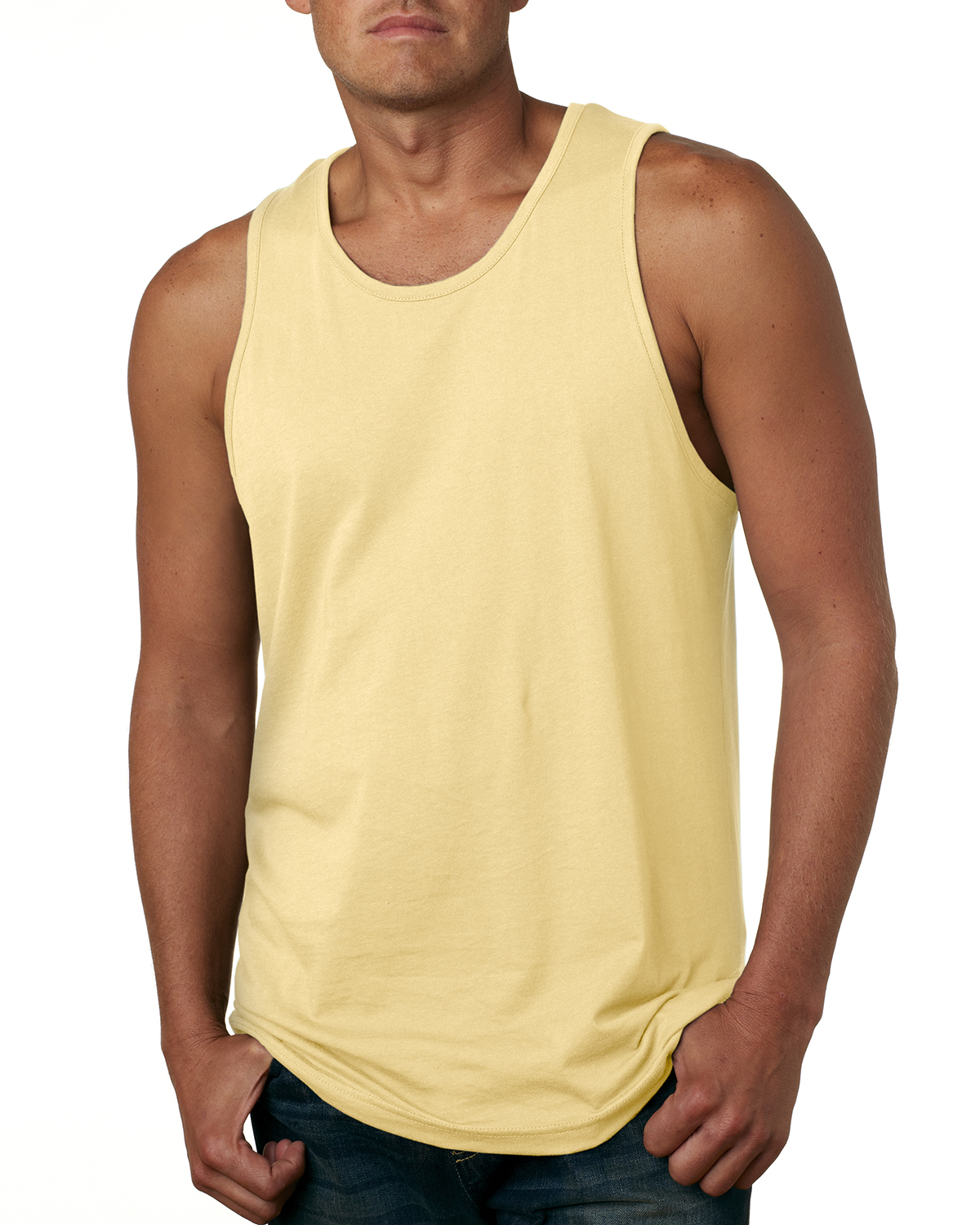 Next Level Mens Jersey Tank Turquoise