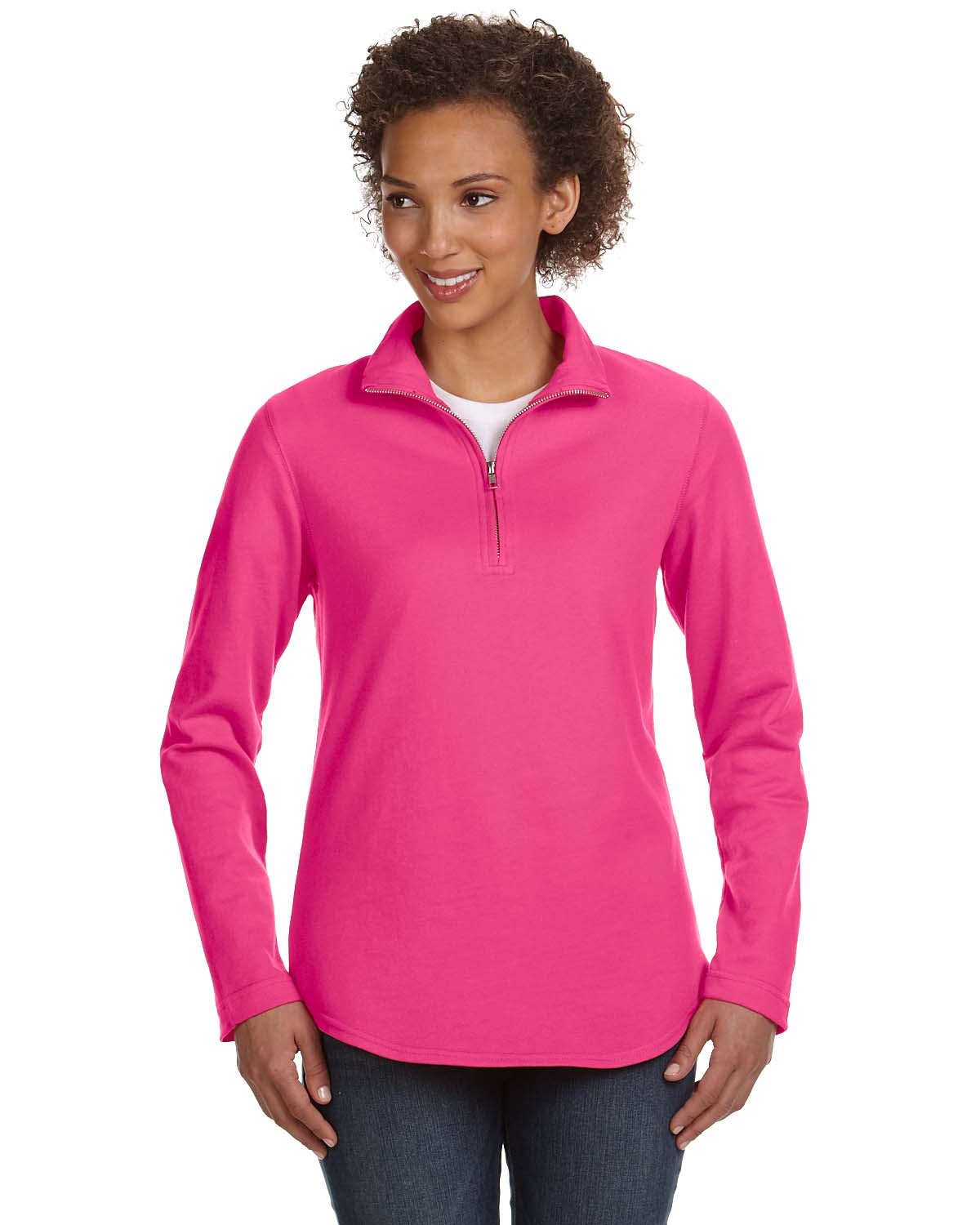 LAT Apparel 3764 Women s Quarter-Zip Pullover - Shirtmax cb7b0e8c7