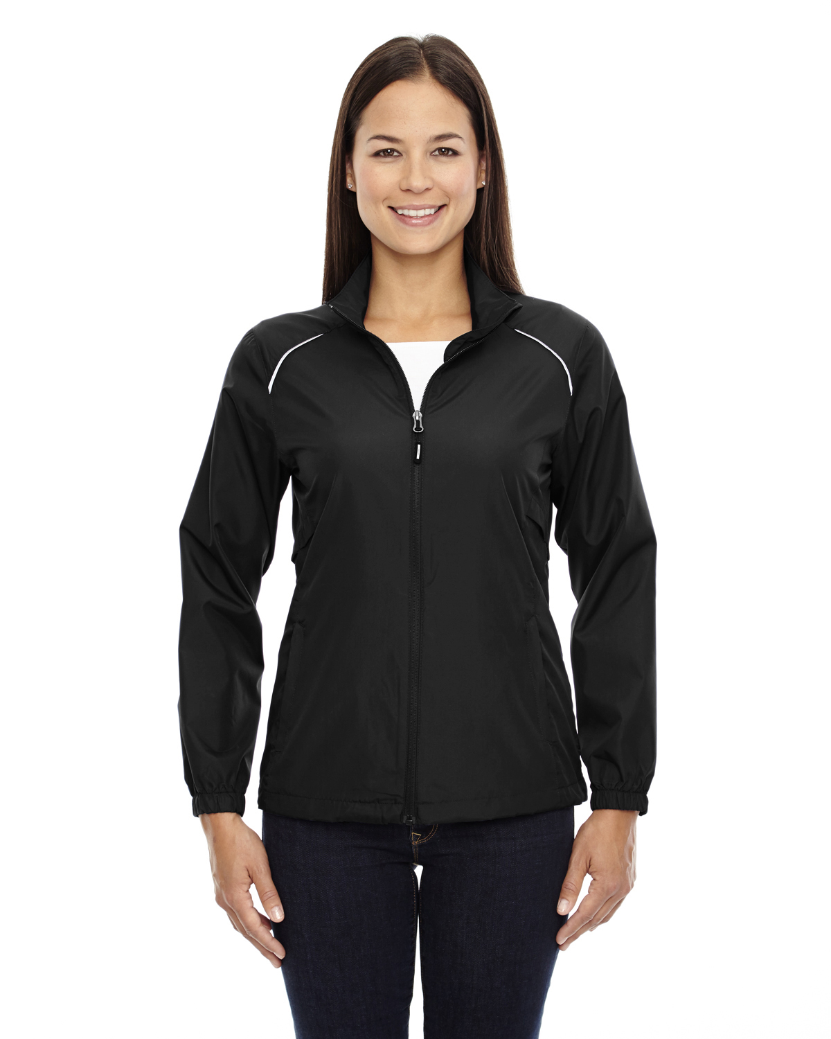 Ash City Core 365 Womens Motivate Unlined Lightweight Jacket Black 703 Small