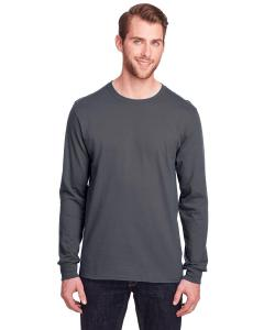 Charcoal Grey Adult ICONIC™ Long Sleeve T-Shirt