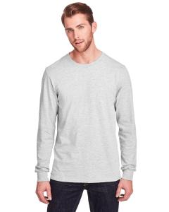 Oatmeal Heather Adult ICONIC™ Long Sleeve T-Shirt