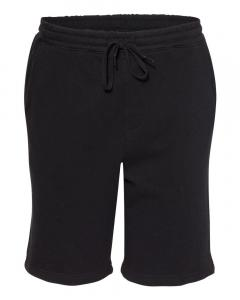 Black Unisex Midweight Fleece Shorts