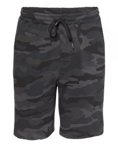 Black Camo Unisex Midweight Fleece Shorts
