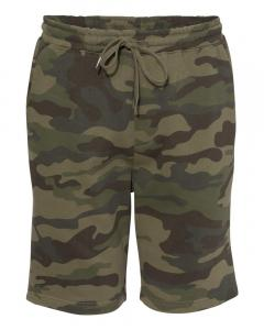 Forest Camo Unisex Midweight Fleece Shorts