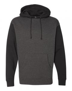 Charcoal Heather/ Black Heavyweight Hooded Sweatshirt