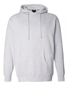 Grey Heather Heavyweight Hooded Sweatshirt