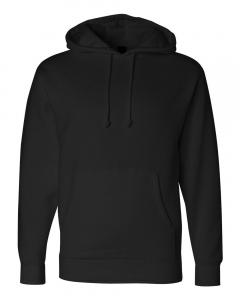 Black Heavyweight Hooded Sweatshirt