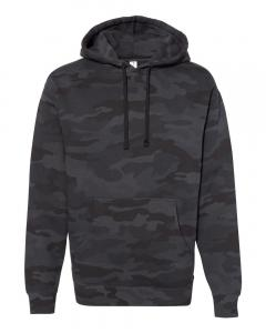 Black Camo Heavyweight Hooded Sweatshirt