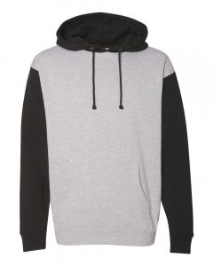 Grey Heather/ Black Heavyweight Hooded Sweatshirt