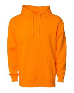 Safety Orange Heavyweight Hooded Sweatshirt