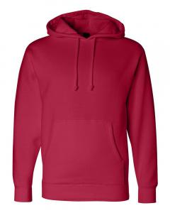 Red Heavyweight Hooded Sweatshirt