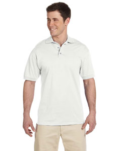 White 6.1 oz. Heavyweight Cotton Jersey Polo