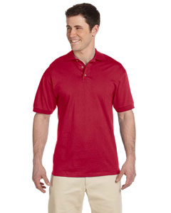 True Red 6.1 oz. Heavyweight Cotton Jersey Polo