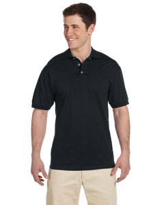 Black 6.1 oz. Heavyweight Cotton Jersey Polo