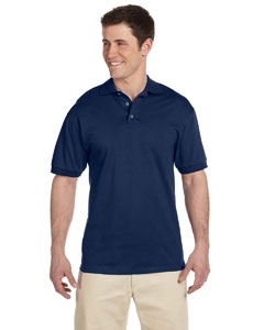 J Navy 6.1 oz. Heavyweight Cotton Jersey Polo
