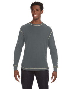 Chrl Htr/ Vnt Wh Men's Vintage Long-Sleeve Thermal T-Shirt