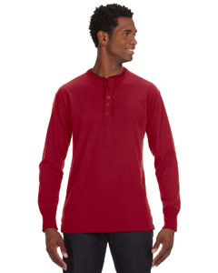 Simply Red Men's Vintage Brushed Jersey Henley