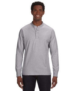 Oxford Men's Vintage Brushed Jersey Henley