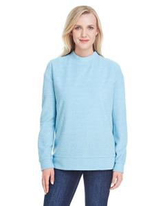 Columbia Blue Ladies' Weekend French Terry Mock Neck Crew