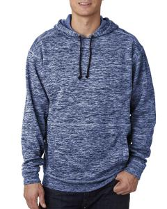 Navy Fleck Adult Cosmic Poly Fleece Hood