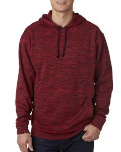Red Fleck Adult Cosmic Poly Fleece Hood