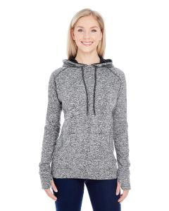 Charcol Flk/ Blk Ladies Cosmic Contrast Fleece Hood