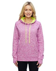 Mag Flck/ Neo Yl Ladies Cosmic Contrast Fleece Hood