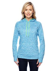 El Blu Flk/ N Gr Ladies Cosmic Contrast Fleece Hood