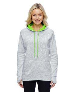Ice Fleck/ Ne Gr Ladies' Cosmic Contrast Fleece Hood
