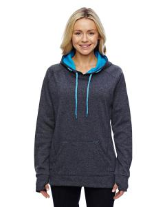Onyx Fl/ El Blue Ladies Cosmic Contrast Fleece Hood