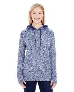 Navy Fleck/ Navy Ladies' Cosmic Contrast Fleece Hood