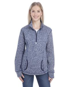 Navy Fleck/ Navy Ladies Cosmic Fleece Quarter-Zip