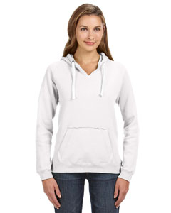White Ladies' Sydney Brushed V-Neck Hood