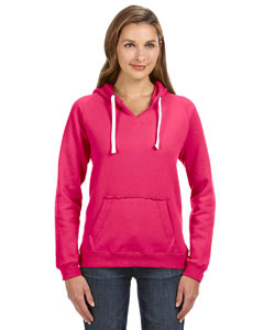 Wildberry Ladies' Sydney Brushed V-Neck Hood