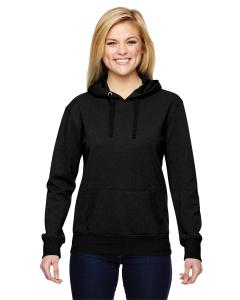 Black Ladies' Glitter French Terry Hood