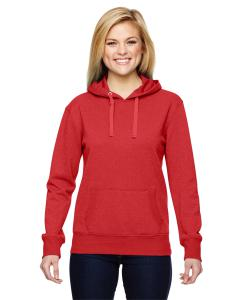 Red Ladies' Glitter French Terry Hood