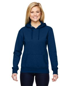 Navy Ladies' Glitter French Terry Hood