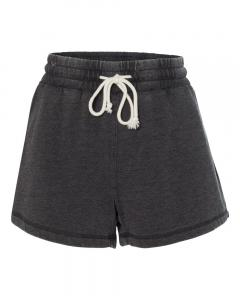 Charcoal Women's Enzyme-Washed Rally Shorts