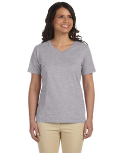 Heather Women's Combed Ringspun Jersey V-Neck T-Shirt