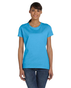 Aquatic Blue Ladies' 5 oz.  HD Cotton™ T-Shirt