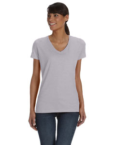 Athletic Heather Women's 5 oz., 100% Heavy Cotton HD™ V-Neck T-Shirt