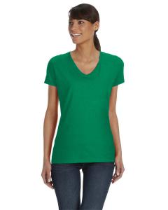 Kelly Women's 5 oz., 100% Heavy Cotton HD™ V-Neck T-Shirt