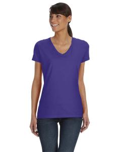 Purple Women's 5 oz., 100% Heavy Cotton HD™ V-Neck T-Shirt