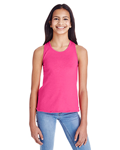 Hot Pink Girls' Relaxed Racerback Tank