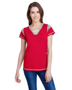 Red/ Ttnium/ Wht Ladies' Gameday Lace-Up T-Shirt
