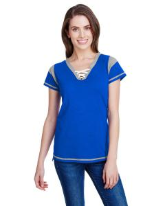 Royal/ Ttnm/ Wht Ladies' Gameday Lace-Up T-Shirt