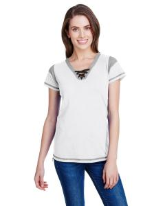 Wht/ Titanm/ Blk Ladies' Gameday Lace-Up T-Shirt